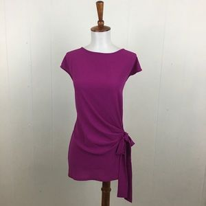 Vince Camuto Orchid Crew Neck Sleeveless Tunic